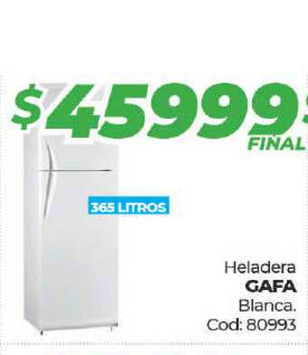 Diarco Heladera Gafa Blanca.