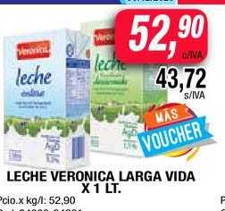 Maxiconsumo Leche Veronica Larga Vida X 1 Lt.