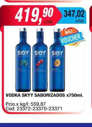 Maxiconsumo Vodka Skyy Saborizados X 750ml.