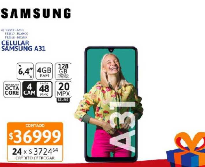 Cetrogar Celular Samsung A31