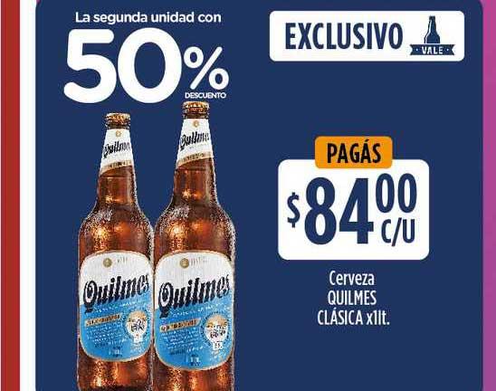 Supermercados Toledo Cerveza Quilmes Clásica X 1lt.