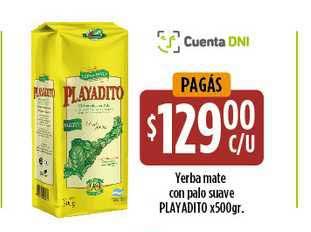 Supermercados Toledo Yerba Mate Con Palo Suave Playadito X 500gr.