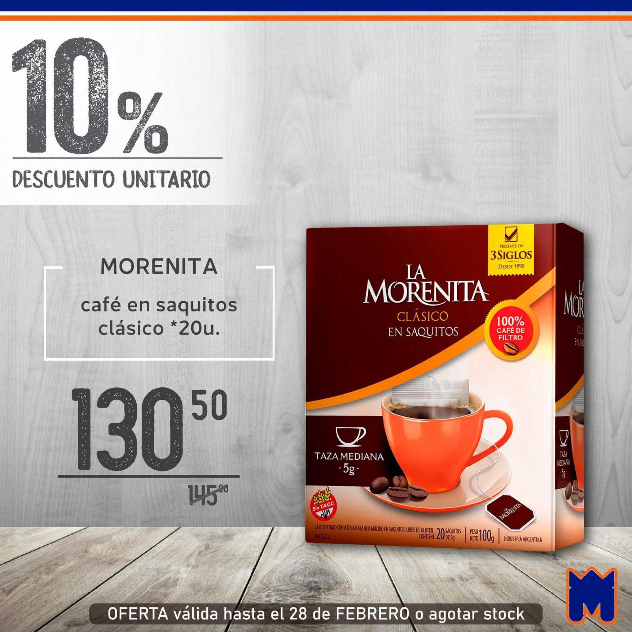 Supermercados Monarca Morenita Café En Saquitos Clásico