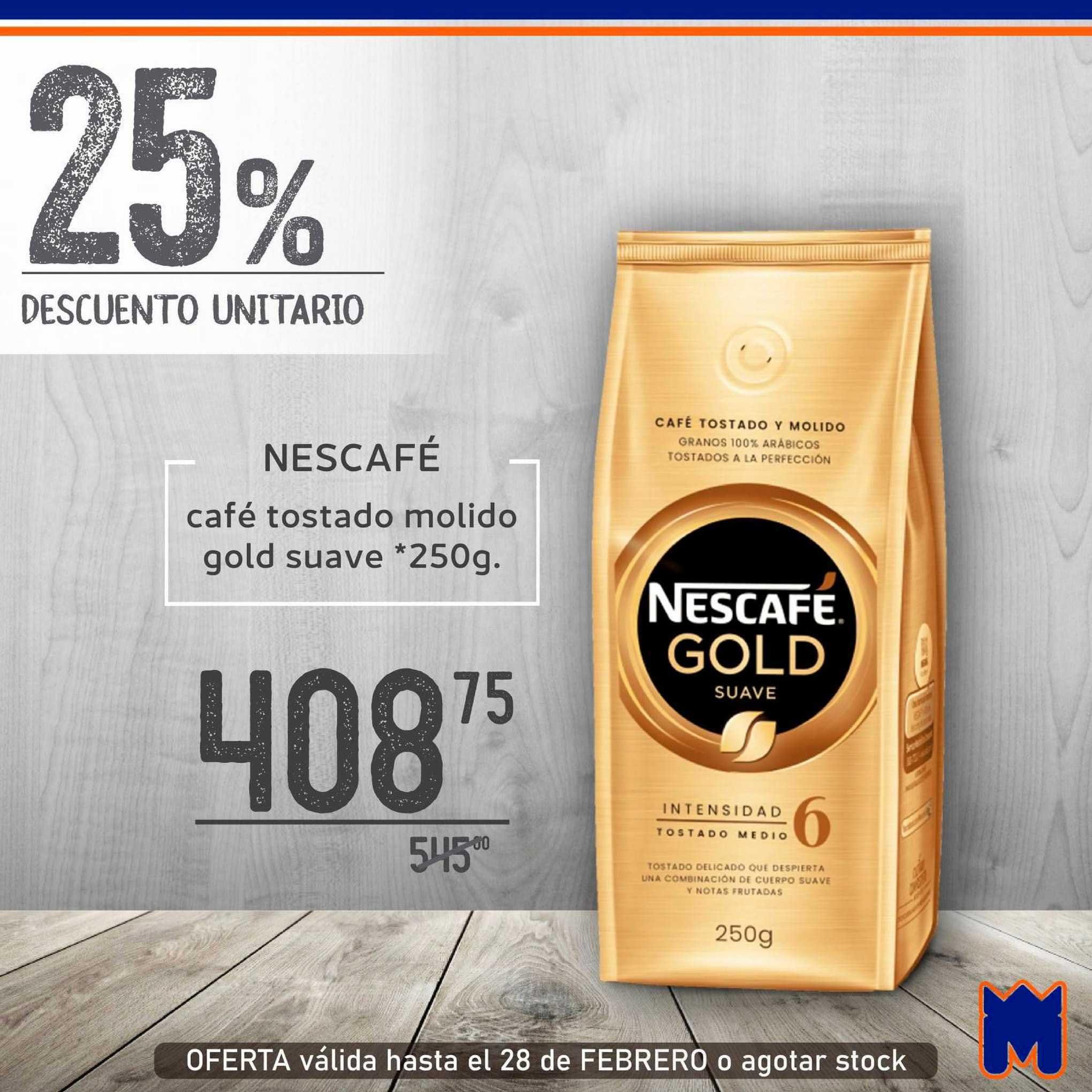 Supermercados Monarca Nescafé Café Tostado Molido Gold Suave