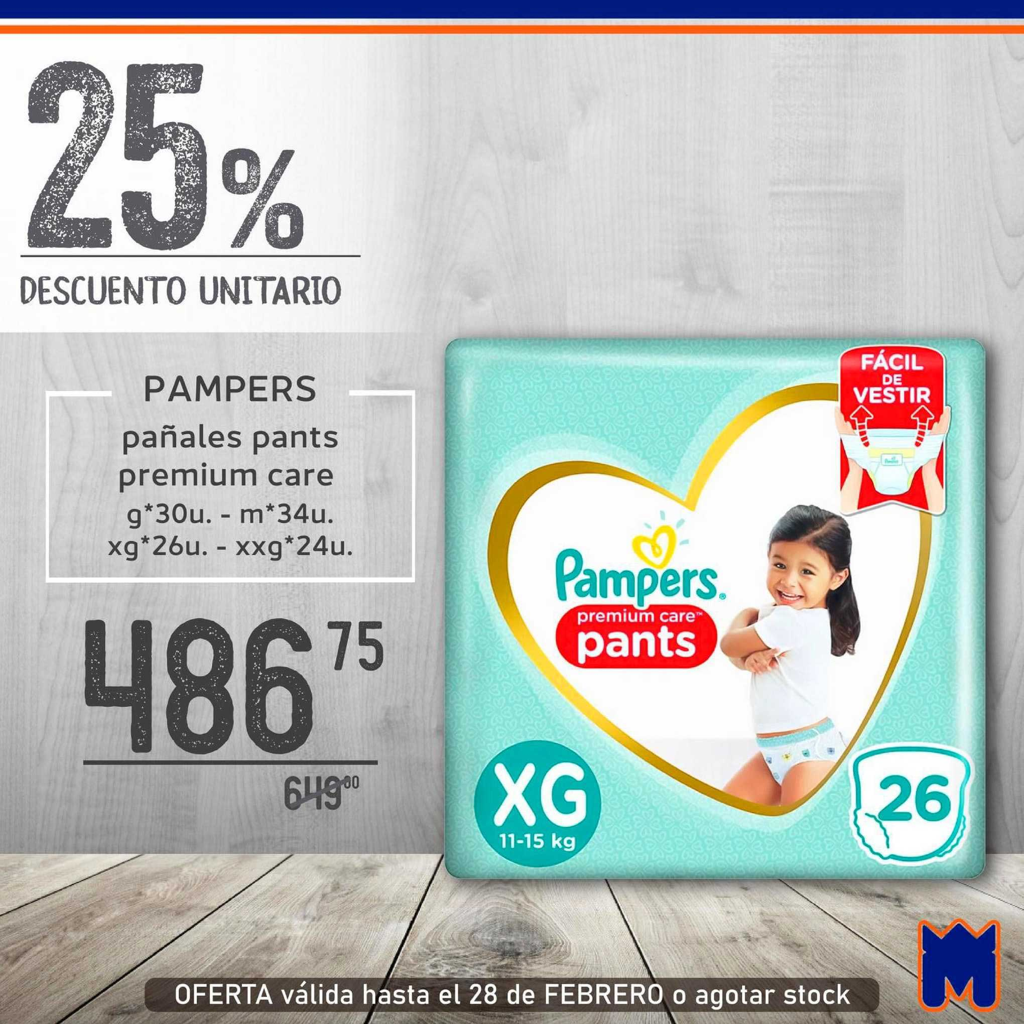 Supermercados Monarca Pampers Pañales Pants Premium Care