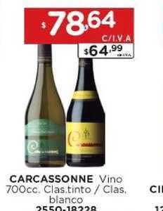 Hiper May Carcassonne Vino 700cc. Clas.tinto - Clas. Blanco