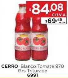 Hiper May Cerro Blanco Tomate 970 Grs Triturado