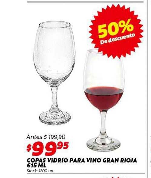 Ferniplast Copas Vidrio Para Vino Gran Rioja 615 Ml