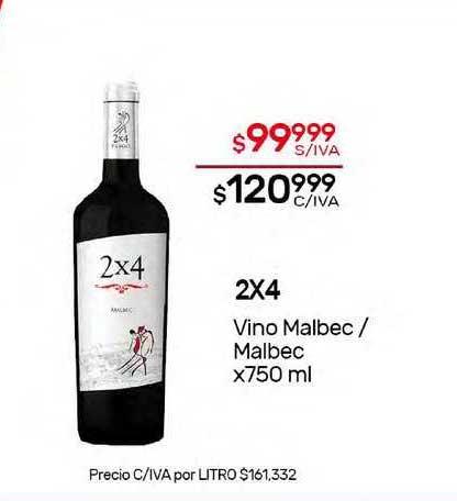 Nini Mayorista 2x4 Vino Malbec-malbec