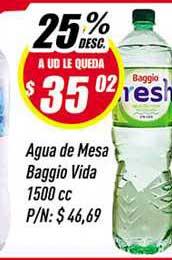 Supermercados Comodin Agua De Mesa Baggio Vida 25% Desc.
