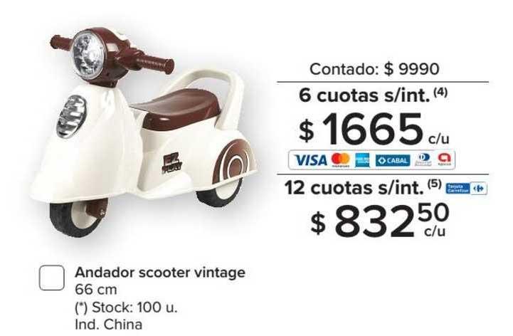 Carrefour Andador Scooter Vintage 66 Cm