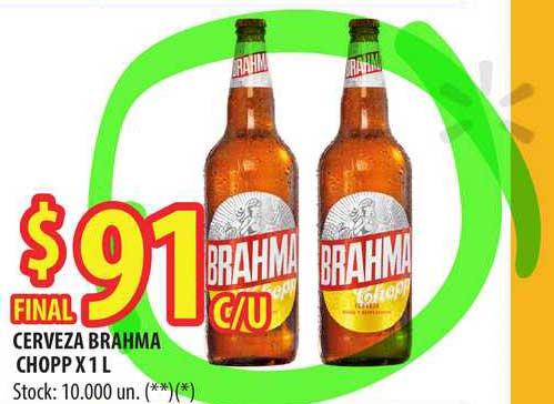 Punto Mayorista Cerveza Brahma Chopp X 1 L