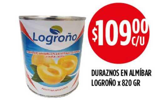 Supermercados Toledo Duraznos En Almíbar Logroño X 820 GR