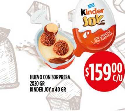 Supermercados Toledo Huevo Con Sorpresa 2x20 GR Kinder Joy X 40 GR