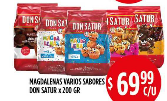 Supermercados Toledo Magdalenas Varios Sabores Don Satur X 200 GR