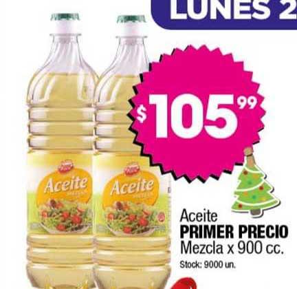 Cordiez Aceite Primer Precio Mezcla X 900 Cc.