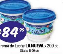 Cordiez Crema De Leche La Nueva X 200 Cc.
