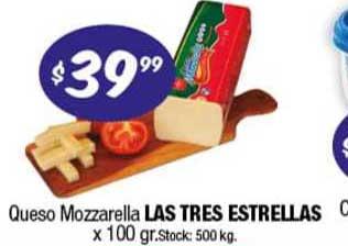 Cordiez Queso Mozzarella Las Tres Estrellas X 100 Gr.