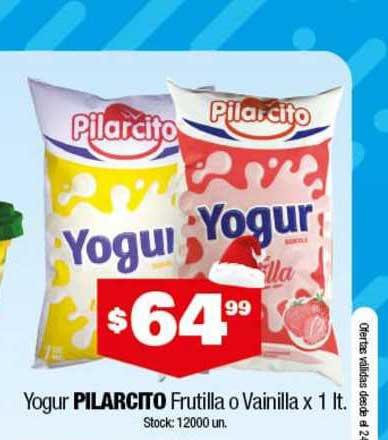 Cordiez Yogur Pilarcito Frutilla O Vainilla X 1 Lt.