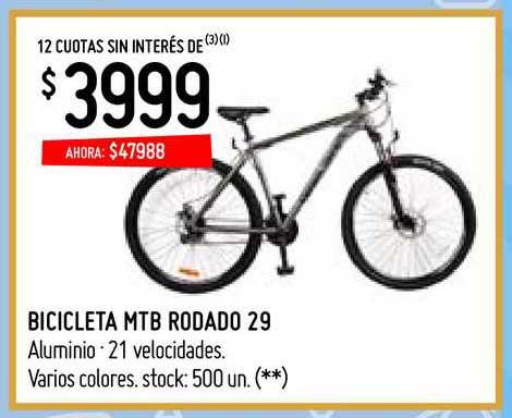 Walmart Bicicleta MTB Rodado 29