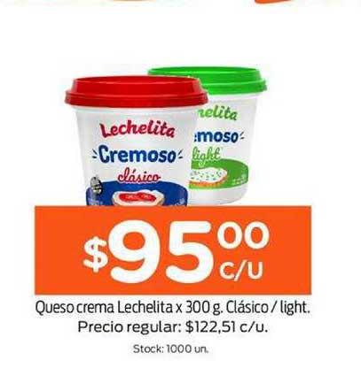 Super Mami Queso Crema Lechelita X 300 G. Clásico - Light.