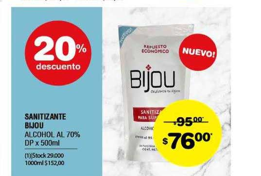 ATOMO Conviene Sanitizante Bijou Alcohol Al 70% DP X 500ml