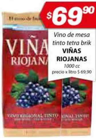 Almacor Vino De Mesa Tinto Tetra Brik Viñas Riojanas 1000 Cc