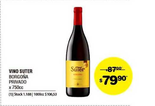 ATOMO Conviene Vino Suter Borgoña Privado X 750cc