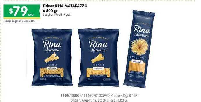 Jumbo Fideos Rina Matarazzo