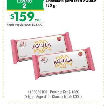 Jumbo Chocolate Para Taza Aguila 150 Gr