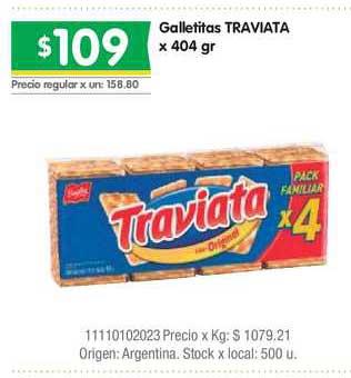 Jumbo Galletitas Traviata X 404 Gr