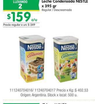 Jumbo Leche Condensada Nestle X 395 Gr