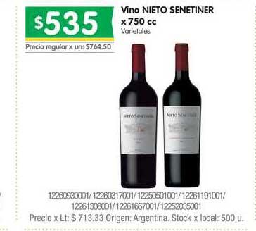 Jumbo Vino Nieto Senetiner X 750 Cc