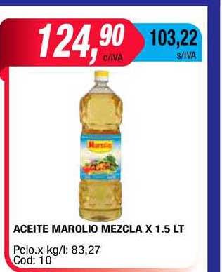 Maxiconsumo Aceite Marolio Mezcla X 1.5 LT