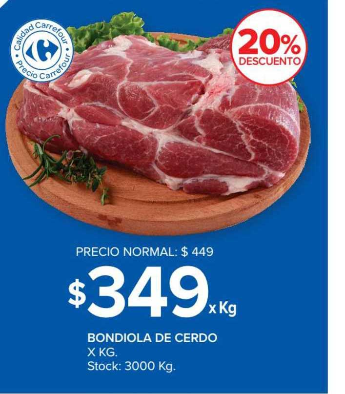 Carrefour Market Bondiola De Cerdo X Kg.