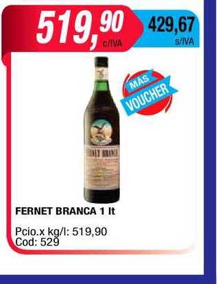 Maxiconsumo Fernet Branca 1 Lt