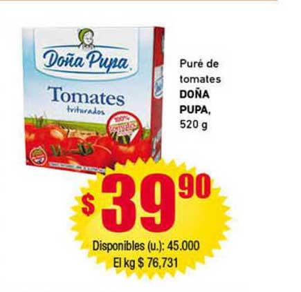 Cooperativa Obrera Puré De Tomates Doña Pupa, 520 G