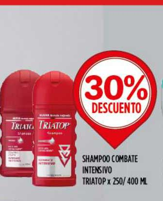 Supermercados Toledo Shampoo Combate Intensivo Triatop X 250- 400 ML