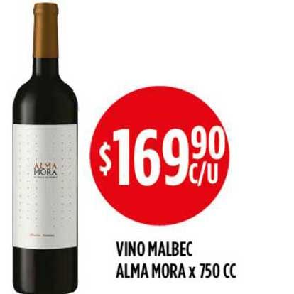 Supermercados Toledo Vino Malbec Alma Mora X 750 CC
