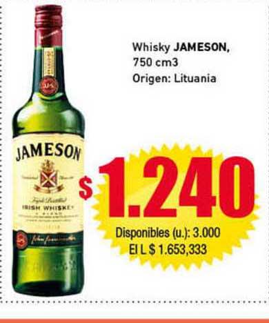 Cooperativa Obrera Whisky Jameson, 750 Cm3