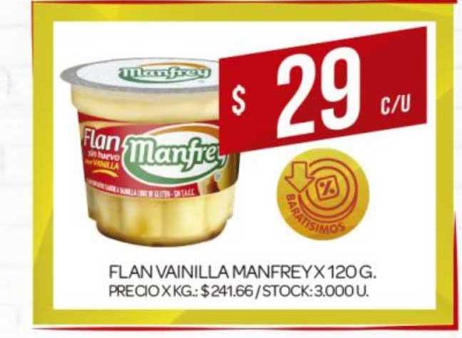 Supermercados DIA Flan Vainilla Manfrey X 120G