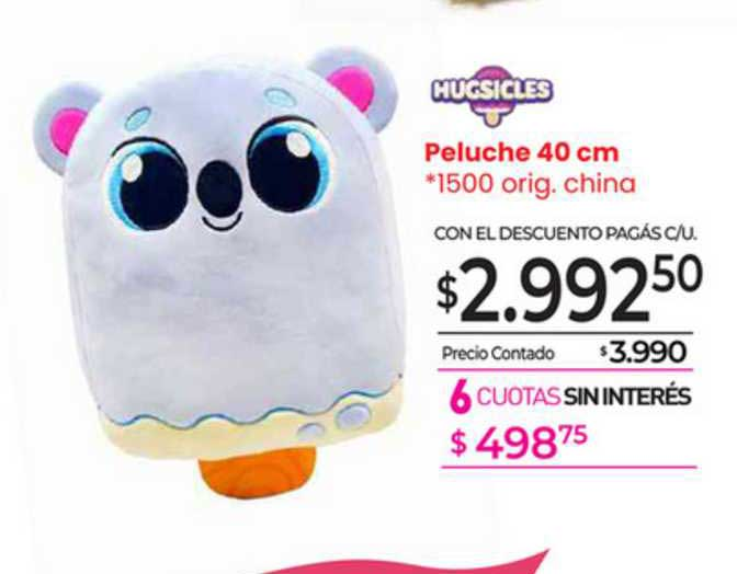 La Anónima Hugsicles Peluche 40 Cm