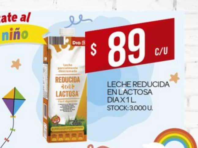 Supermercados DIA Leche Reducida En Lactosa Dia X 1L