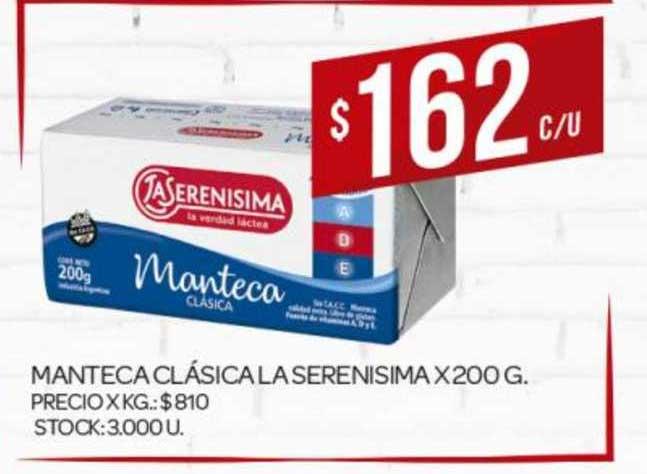 Supermercados DIA Manteca Clásica La Serenisima X 200G