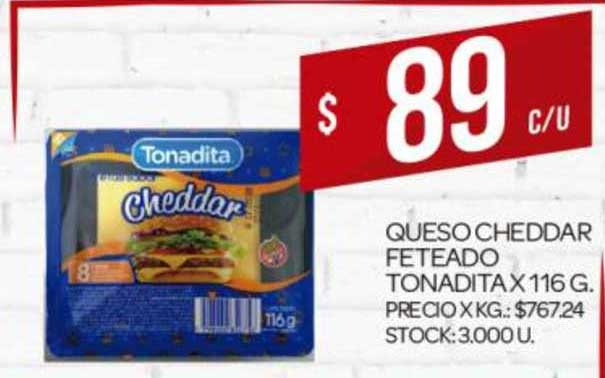Supermercados DIA Queso Cheddar Feteado Tonadita X 116G
