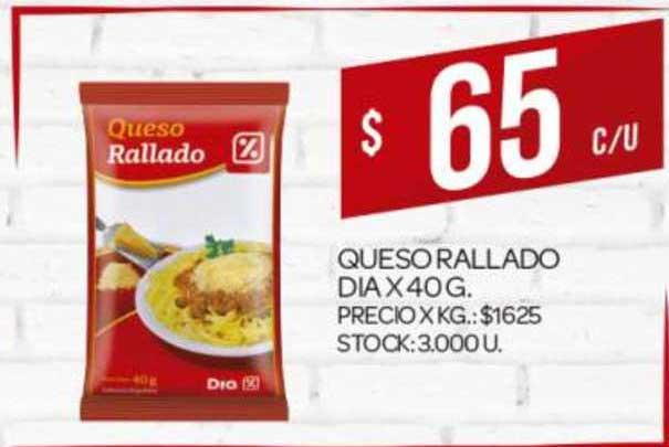 Supermercados DIA Queso Rallado Dia X 40G