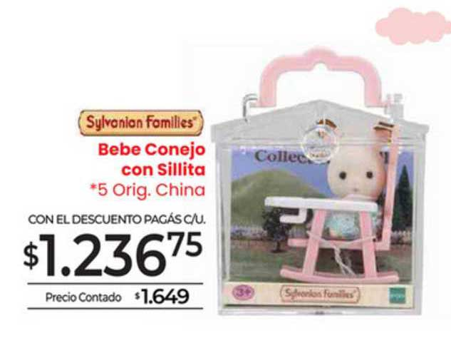 La Anónima Sylvanian Famillies Bebe Conejo Con Sillita