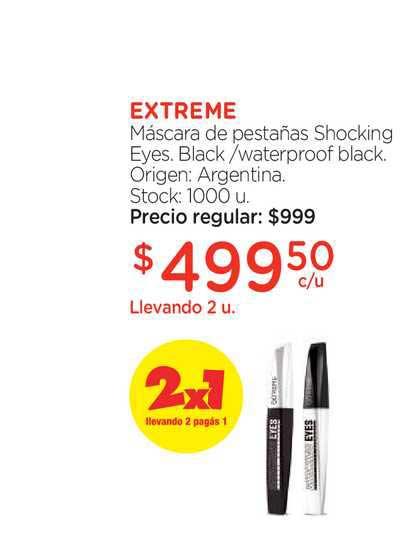 Farmacity Extreme Máscara De Pestañas Shocking Eyes Black Waterproof Black