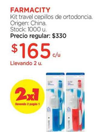 Farmacity Farmacity Kit Travel Cepillos De Ortodoncia