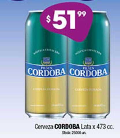 Cordiez Cerveza Cordoba Lata